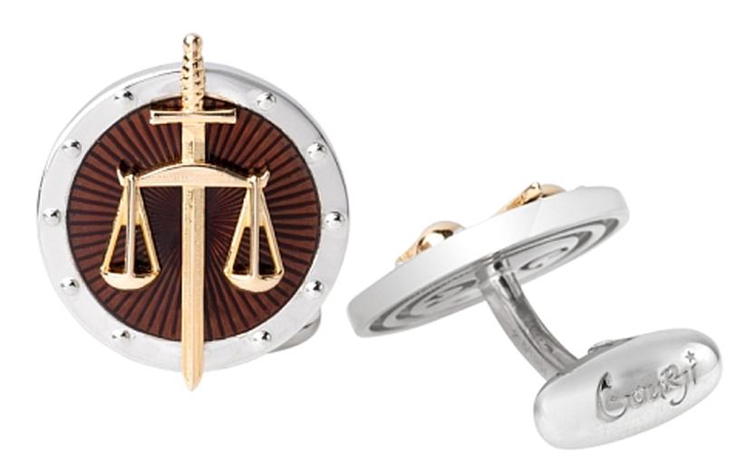Запонки Gourji «Закон и порядок»