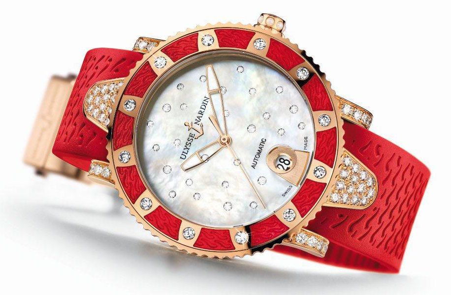 будет часы красные наручные женские ulysse nardin новым 2017