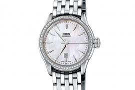 Oris Culture Artelier Date Diamonds 561 7604 4956 LS FC